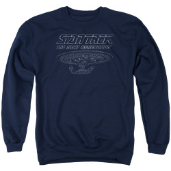 Image for Star Trek The Next Generation Crewneck - TNG Enterprise