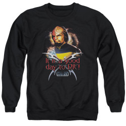 Image for Star Trek The Next Generation Crewneck - It's a Good Day to Die