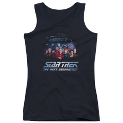 Image for Star Trek The Next Generation Girls Tank Top - Space Group