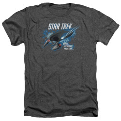 Image for Star Trek Heather T-Shirt - The Final Frontier