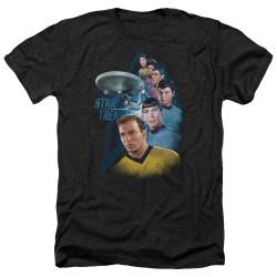 Image for Star Trek Heather T-Shirt - Among the Stars
