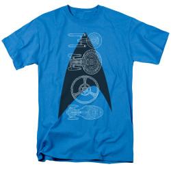 Image for Star Trek T-Shirt - Line of Ships