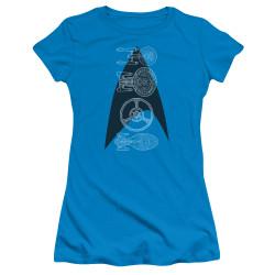 Image for Star Trek Girls T-Shirt - Line of Ships