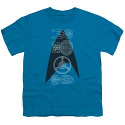 Image for Star Trek Youth T-Shirt - Line of Ships