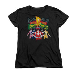 Image for Power Rangers Woman's T-Shirt - Rangers Unite