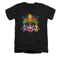 Image for Power Rangers T-Shirt - V Neck - Rangers Unite