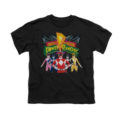 Image for Power Rangers Youth T-Shirt - Rangers Unite