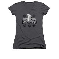 Image for Power Rangers Girls V Neck T-Shirt - Power Coins