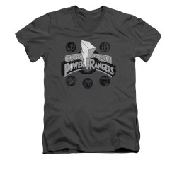 Image for Power Rangers T-Shirt - V Neck - Power Coins