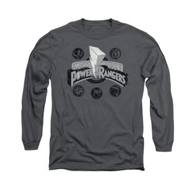 Image for Power Rangers Long Sleeve T-Shirt - Power Coins