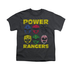 Image for Power Rangers Youth T-Shirt - Ranger Heads