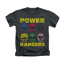 Image for Power Rangers Kids T-Shirt - Ranger Heads