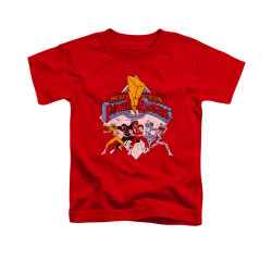 Image for Power Rangers Toddler T-Shirt - Retro Rangers