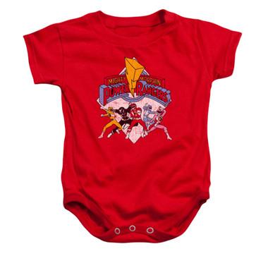 Image for Power Rangers Baby Creeper - Retro Rangers