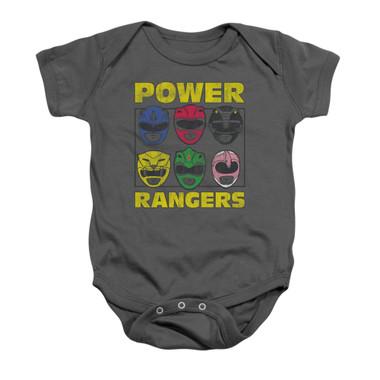 Image for Power Rangers Baby Creeper - Ranger Heads