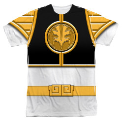 Image for Power Rangers T-Shirt - Sublimated White Ranger Uniform 100% Polyester