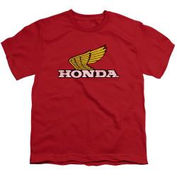 Image for Honda Youth T-Shirt - Yellow Wing Logo