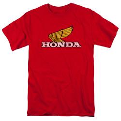 Image for Honda T-Shirt - Yellow Wing Logo