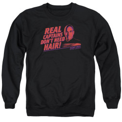 Image for Star Trek The Next Generation Crewneck - Real Captains Don't Need Hair