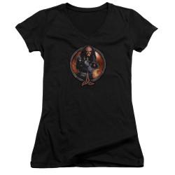 Image for Star Trek The Next Generation Girls V Neck T-Shirt - Gowron