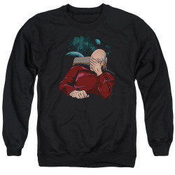 Image for Star Trek The Next Generation Crewneck - Picard Facepalm