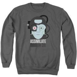 Image for Star Trek The Next Generation Crewneck - Assimilate or Die