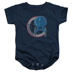 Image for Star Trek The Next Generation Mirror Universe Ship Patch Baby Creeper