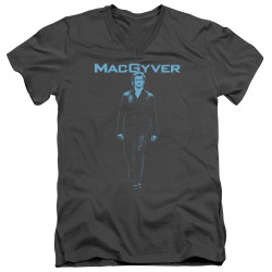 Image for MacGyver T-Shirt - V Neck - Mono Blue