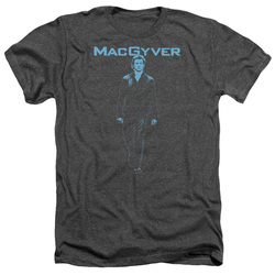 Image for MacGyver Heather T-Shirt - Mono Blue