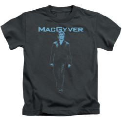 Image for MacGyver Kids T-Shirt - Mono Blue