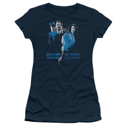 Image for Blue Bloods Girls T-Shirt - Blue Inverted