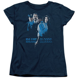 Image for Blue Bloods Woman's T-Shirt - Blue Inverted