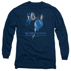 Image for Blue Bloods Long Sleeve T-Shirt - Blue Inverted