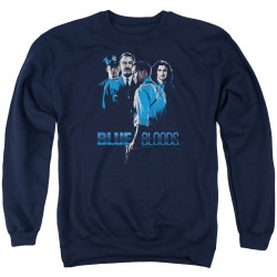 Image for Blue Bloods Crewneck - Blue Inverted