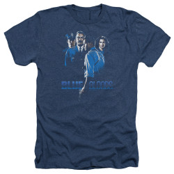 Image for Blue Bloods Heather T-Shirt - Blue Inverted