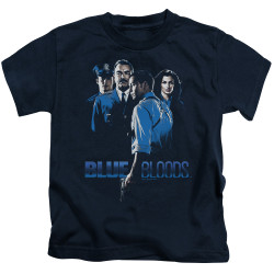 Image for Blue Bloods Kids T-Shirt - Blue Inverted