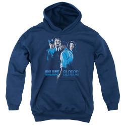 Image for Blue Bloods Youth Hoodie - Blue Inverted