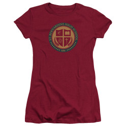 Image for American Vandal Girls T-Shirt - St. Bernardine Seal