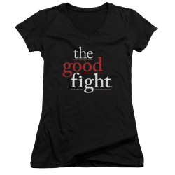 Image for The Good Fight Girls V Neck T-Shirt - Logo