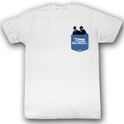 Image for The Blues Brothers T-Shirt - Blue Pocket