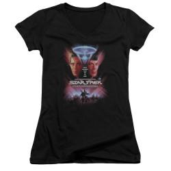 Image for Star Trek Girls V Neck T-Shirt - The Final Frontier