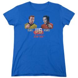 Image for Star Trek Woman's T-Shirt - TWOK Kirk vs Khan