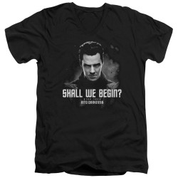 Image for Star Trek Into Darkness T-Shirt - V Neck - Shall We Begin
