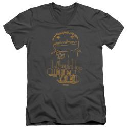Image for Squidbillies V Neck T-Shirt - Outlawed