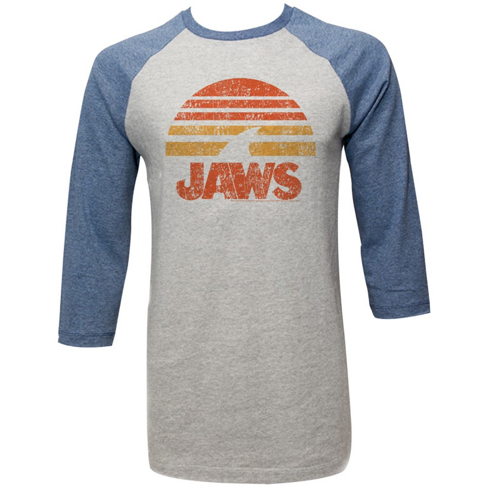 fe5af6a8 Jaws 3/4 T-Shirt - Shark Sun. Loading zoom. Hover over image to zoom