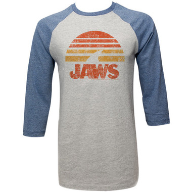 Image for Jaws 3/4 T-Shirt - Shark Sun