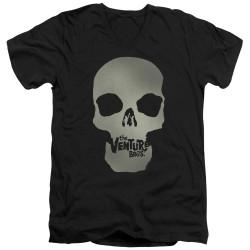 Image for The Venture Bros. V Neck T-Shirt - Skull Logo