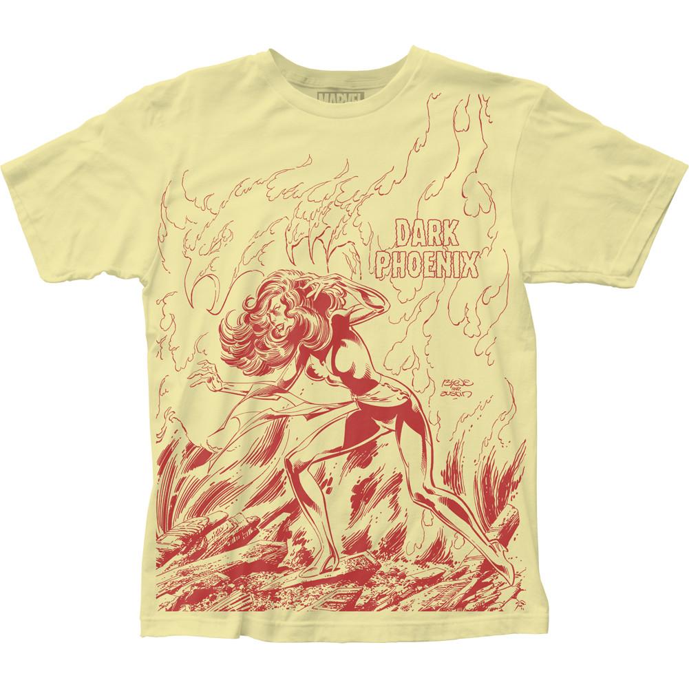 72dc772a22b X-Men Subway T-Shirt - Dark Phoenix Rises Big Print - NerdKungFu