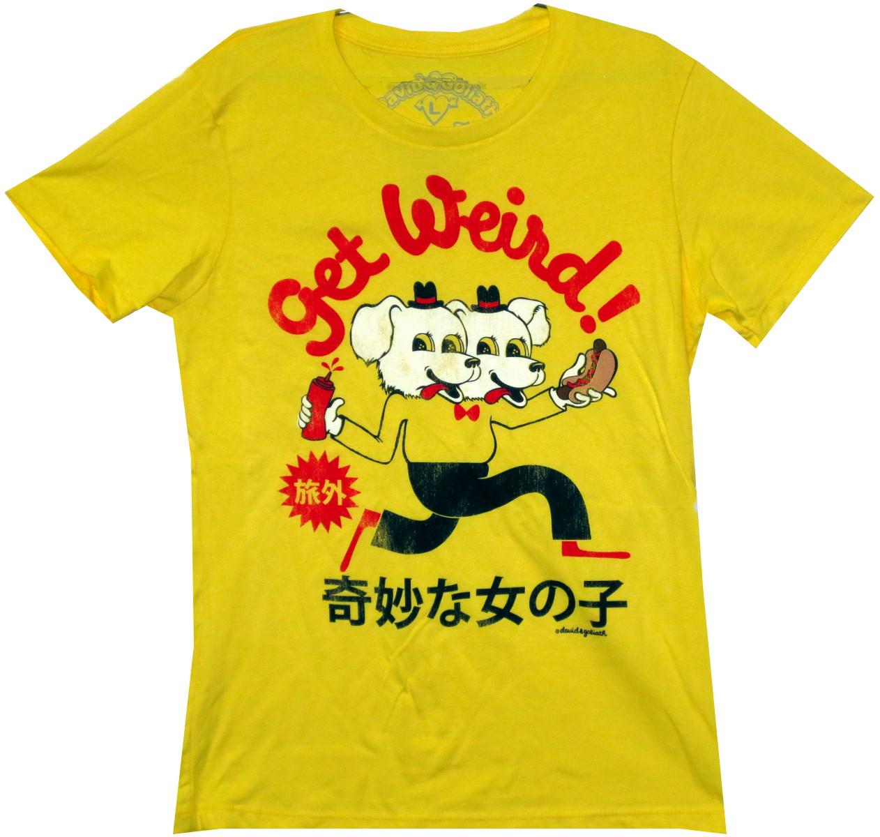 92fca28ee David & Goliath Girls T-Shirt - Get Weird - NerdKungFu