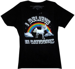 Image for David & Goliath Girls T-Shirt - I Believe in Caticorns
